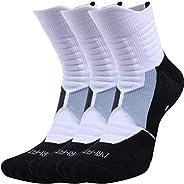 Pelisy Womens & Mens Athletic Socks Compression Crew Sock Men 3 Pack For Basketball &