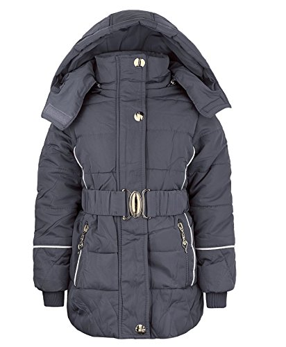 Girls Fur Lined Jacket CLH-16 in Grey 13-14 Years