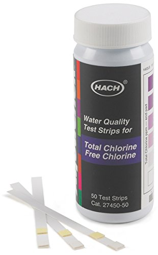 Chloramine Test Strips - Hach 2745050 Free & Total Chlorine Test Strips, 0-10 mg/L