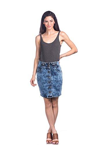 Just A Girl Denim Skirt - 2
