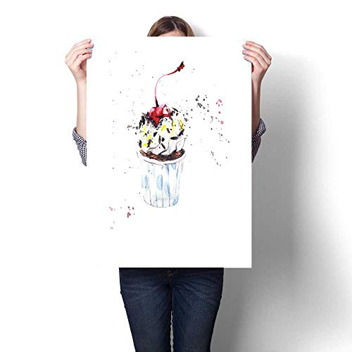 Anshesix Art-Canvas Prints Cherry and Chocolate Cupcake Customizable Wall Stickers 20