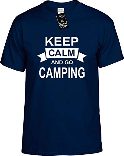 Signature Depot Mens Funny T-Shirt Size M (Keep Calm and GO Camping (Vacation) Unisex Tee