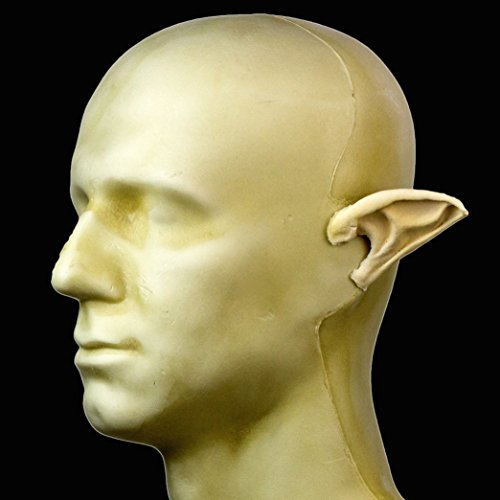 Rubber Wear Foam Latex Prosthetic - Large Pointed Ears FRW-030 - Makeup Theater FX