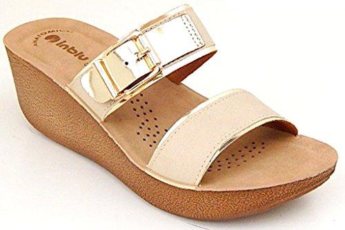 INBLU , Sandales pour femme beige sable 41 EU