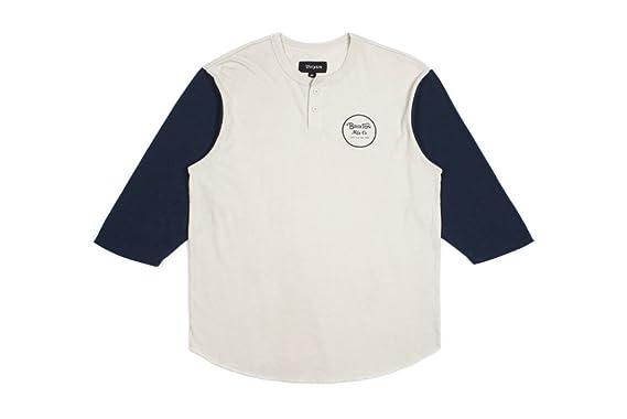 3047afc2fd33 Amazon.com: Brixton Men's Wheeler Standard Fit 3/4 Sleeve Henley Tee:  Clothing