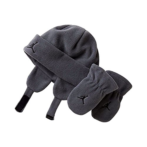 Boys Toddler 2/4T Two Piece Beanie and Gloves Set Grey