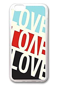 iPhone 6 Cases, Personalized Protective Soft Rubber TPU Clear Case Cover for New iPhone 6 4.7 inch Love