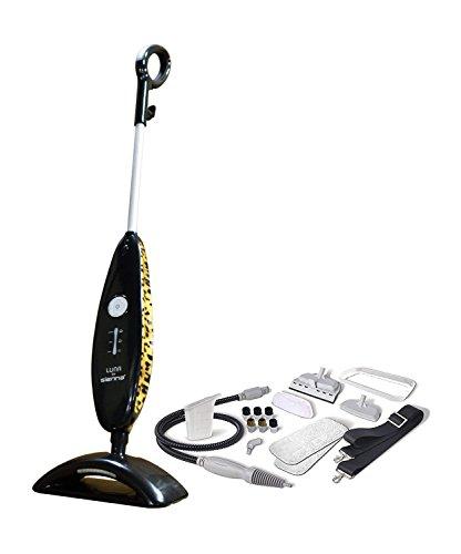 Steam Plus Cleaner Floor (Sienna Luna Plus SSM-3016 Steam Cleaning System, Steam Mop, Tile mop, Hard Floor Steam, Handheld Steam Cleaner, Mop (Leopard))