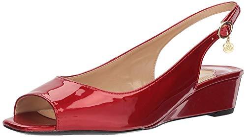 (J. Renee Women's Alivia Pump, red/Metallic Patent, 6.5 M US )