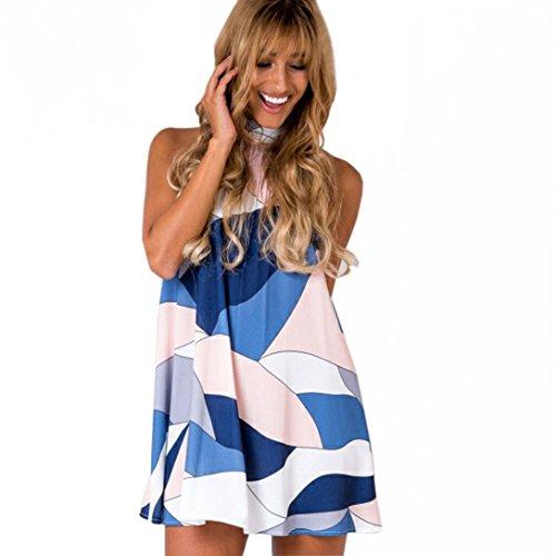 [Aribelly Women Beach Sleeveless Short Mini Dress (S)] (Couple Dress Up Ideas)