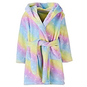 Ameyda Girls' Kids' & Adult Soft Flannel Bathrobes, 1 Year – Adult X-Large