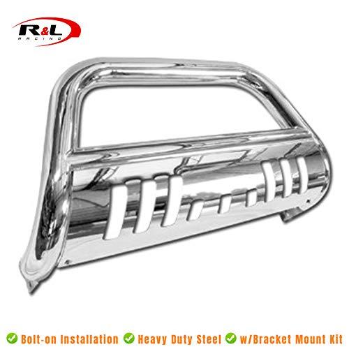 R&L Racing Chrome S/S Bull Bar Brush Push Bumper Grill Grille Guard 2004-2015 for Nissan Titan/Armada