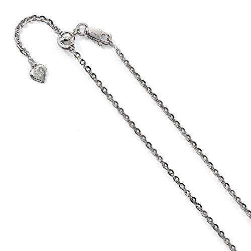 ef4b7c5cc9e5 2 mm de plata de ley y collar de cadena de eslabones ajustable - cm ...