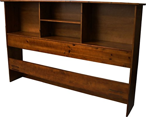 Epic Furnishings Stockholm Bamboo Solid Bookcase Headboard, Twin-size, Walnut