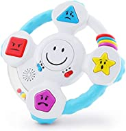 BEST LEARNING My Spin & Learn Steering Wheel - Interactive Educational Toys for 6 to 36 Months Old Infants