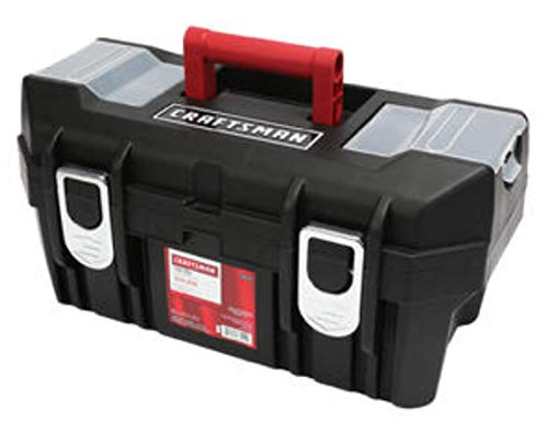 Craftsman 19 Inch Tool Box with Tray - Black/Red