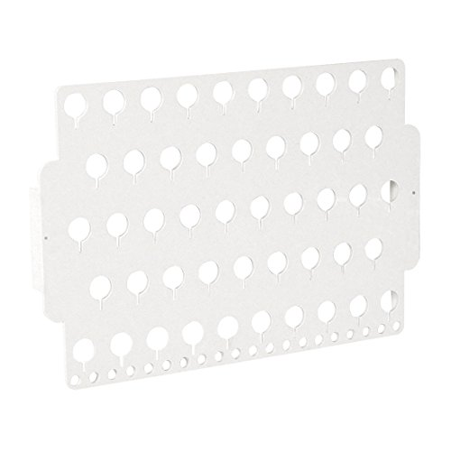 Designers Impressions JR30-WH White Acrylic Wall Mounted Earring Organizer & Display Rack by Designers Impressions