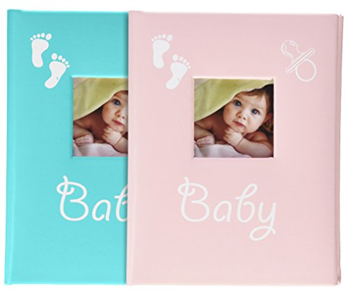 Fashioncraft Blue and Pink Baby Brag Books from Gifts (Acrylic Word Book Album)