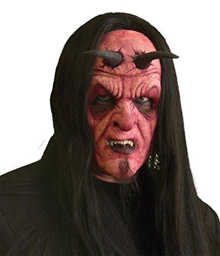 (Devil full Face Foam Prosthetic - Costume Accessory)