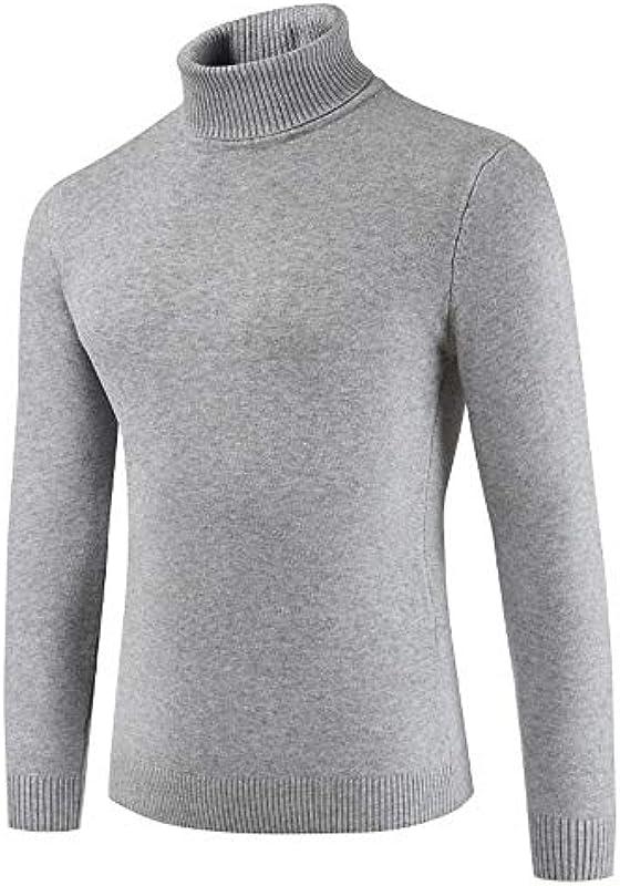 Z&Y Glaa męski sweter z rolowanym kołnierzem sweter z dzianiny z rolowanym kołnierzem sweter z rolowanym kołnierzem Slim Fit koszulka z długim rękawem czarny męski cienki sweter z dziani