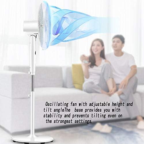Voetventilator, stille werking, oscillerend, verstelbare hoogte, koelventilator, ideaal voor thuis en op kantoor voetstuk ventilator met afstandsbediening lngZ9mgF