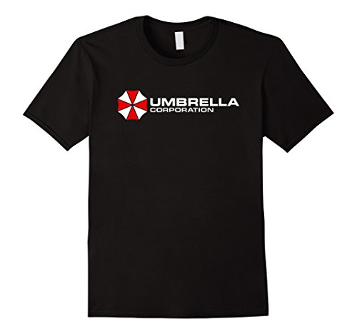 Mens Umbrella Corporation T-Shirt Company Logo Large Black