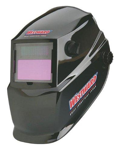 Westward 6VKF5 Welding Helmet, Grind Black