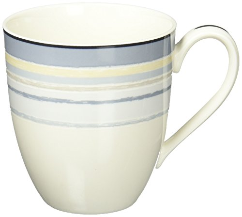 Noritake Java Graphite Swirl 15-ounce Mug (Swirl Mug Oz 15)