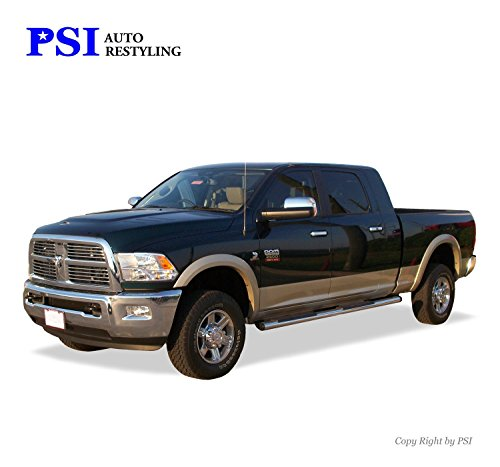 PSI Auto Restyling 800-0205 OEM Style Fender Flares; Front And Rear; Flare Width OEM; Tire Coverage OEM; Smooth Black