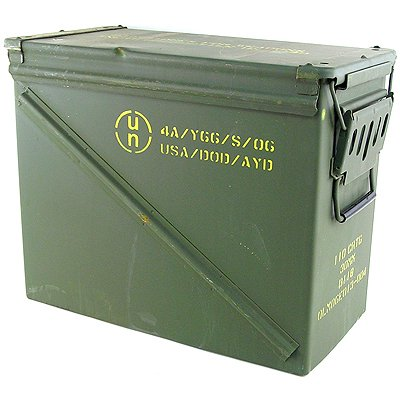 Genial Large Military Ammo Box Watertight Camping Storage