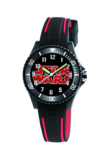 Star Wars Kid's Watch by AM:PM SP190-K487 Black / Red Rubber Strap