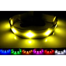 GoDoggie-GLOW - LED Dog Safety Collar - USB Rechargeable - Improved Dog Visibility & Safety - 7 Colours & 5 Sizes - Super-Bright LED's - Great Fun & Safe - Lifetime Guarantee - Yellow XS