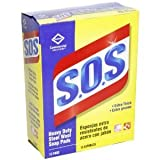 S.O.S. Steel Wool Soap Pads, 15 Count, 12 Boxes/Case (88320)