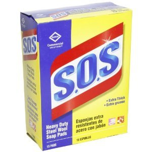 S.O.S. Steel Wool Soap Pads, 15 Count, 12 Boxes/Case (88320) by SOS (Image #1)