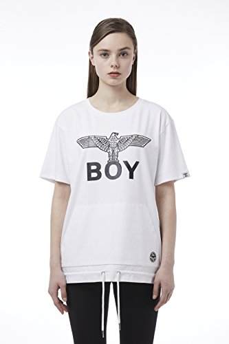 BOY London Unisex (S,M,L,XL) 18SS Front Pocket String Detail Shortsleeve T-Shirt - Black,White New_(BH2TS142) (White, Medium) by BOY London