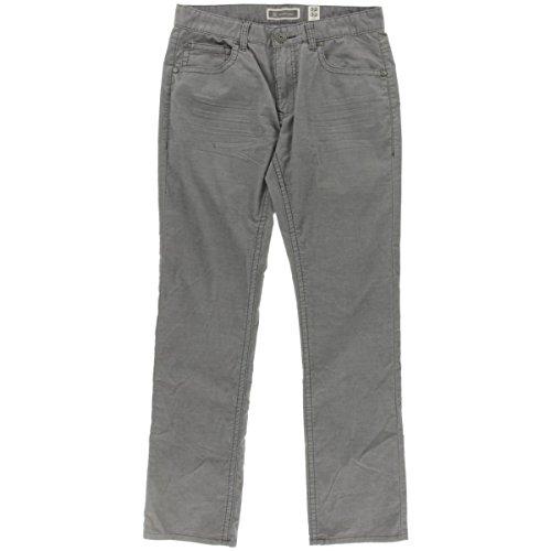 INC Mens Slim Straight Corduroy Corduroy Pants Gray 40/30