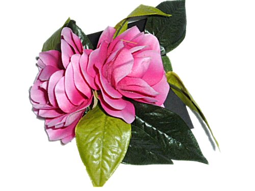 HAWAIIAN DOUBLE PINK GARDENIA FABRIC HAIR FLOWER CLIP (Lei Flower Tone Two)
