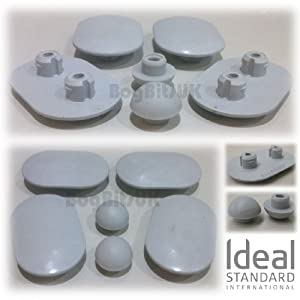 ideal standard replacement space wc toilet seat buffer set. Black Bedroom Furniture Sets. Home Design Ideas