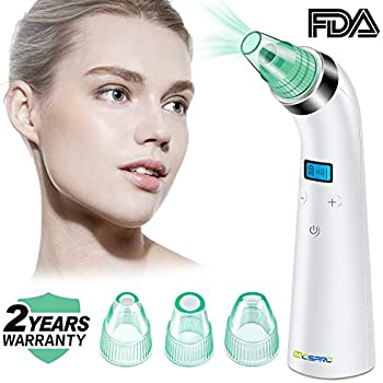 Blackhead Vacuum, iTrunk Upgraded Strong Vacuum Suction Electric Pore Cleaner with Beauty Light, Comedo Suction Removal Tool with 5 Replaceable Suction Heads for Blackhead and Acne Pore Cleanser Fencos