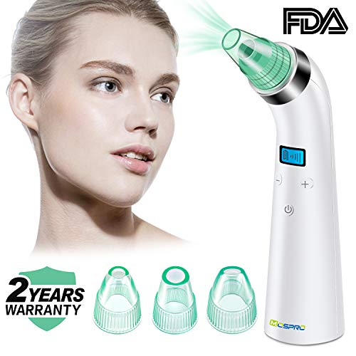 Black Vacuum Safety - Blackhead Remover Vacuum Pore Cleaner - 2018 Upgraded USB Rechargeable Acne Comedone Extractor Tool Exfoliating Machine with 5 Adjustable Suction Power and 3 Replacement Probes