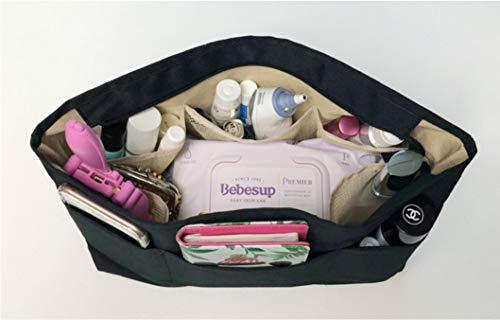 Insert Bag Organizer, Bag in Bag for Handbag Purse Organizer (Medium, Black) by favour (Image #4)