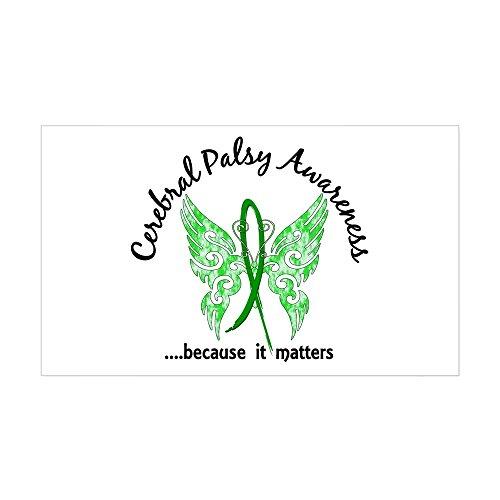 CafePress Cerebral Palsy Butterfly 6.1 Sticker (Rectangle) Rectangle