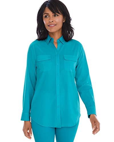 Chico's Women's Silky Soft Shirt Size 20/22 XXL (4) Blue ()