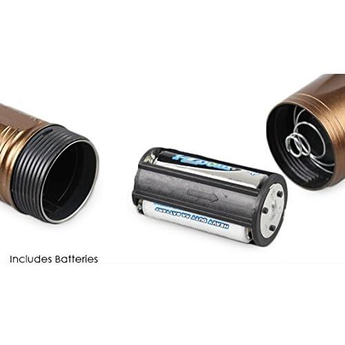 3W Metallic Flashlight with Single High-Intensity LED Bulb