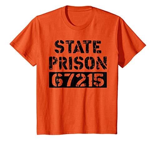 Kids Prisoner Costume TShirt State Prison Jail Halloween