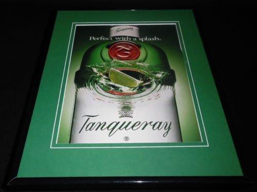 1993-tanqueray-gin-perfect-splash-framed-11x14-original-advertisement