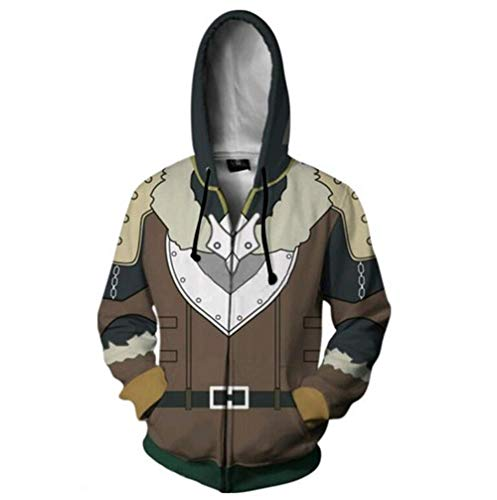 The New Shield of The Brave into a Directory 3D Digital Printing Zipper Cardigan Hooded Sports Sweater (M)