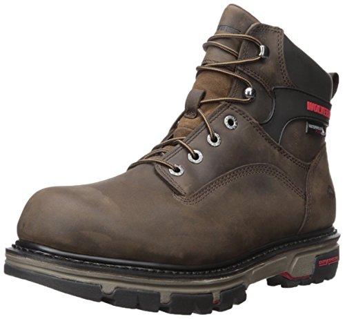 Work 6 Wolverine Men's Nation Dark Brown Soft Waterproof Shoe Inch Toe 0BHpw