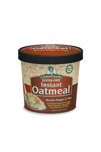 Glutenfreeda Gluten Free Instant Oatmeal Cups, Brown Sugar and Flax, 2.64-ounces(Pack of 12) Glutenfreeda Foods