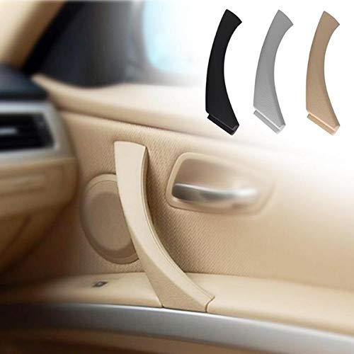 Lanyifang 1Pz Maniglia Esterna Estraibile Nero/Beige / Grigio Destra ABS + PC Maniglia per il Reparto Interno Auto per Pannello Porta Interna per BMW E90 3 Series (Nero)